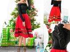 Смотреть изображение Женская одежда Контрастное платье-миди, новое 35292930 в Новосибирске