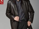 Смотреть изображение  Продам новое мужское кожаное пальто черный весна-осень Швеция 54/180 56671725 в Новосибирске