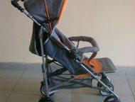 Трость Rich Family Серебристо-оранжевая.   Ручки и передние колёса вращаются на