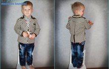 Солидный костюм в полоску от 2-х до 4-х лет