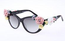 Очки с цветами