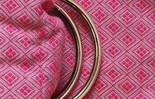 Слинг с кольцами алмазное плетение Y@mmy Mammy Garnet (брусничный/серый)