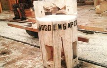 сруб стул из сосны диаметром 40 сантиметров