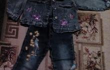 Продам джинсовый костюм р-р45 на девочку