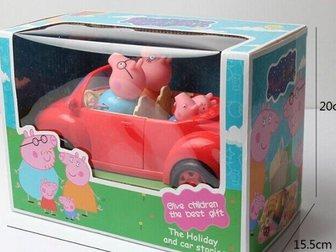 Скачать foto  Машинка свинки пеппы и семья (новая) 34168664 в Новосибирске