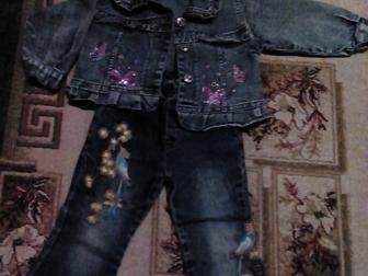 Скачать бесплатно фотографию Детская одежда Продам джинсовый костюм р-р45 на девочку 36903888 в Новосибирске