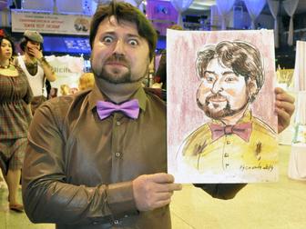 Просмотреть фото Разное Шаржист на праздник 37655411 в Новосибирске
