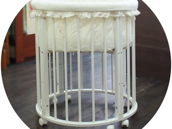 Скачать фотографию Детская мебель Кроватка круглая «Облако» 6 в 1 67886988 в Новосибирске