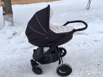 В комплекте москитка, дождевик и рюкзак, Люлька устанавливается на шасси , есть переходники, В хорошем состоянии , из недочетов потертости и царапины на колесной в Новосибирске