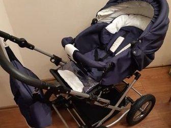 Коляска вездеход,  С этой коляской вам не нужны будут санки, летние прогулочные коляски,  Амортизация самая лучшая-на ремнях,  За счёт этого ребёнка не трясёт и в Новосибирске