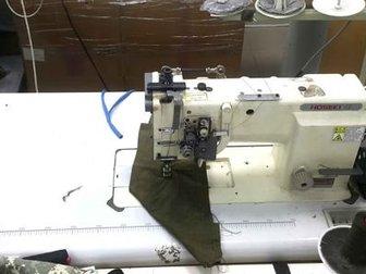 Двухигольная швейная машина HOSEKI HK 668m-2 челночного стежка с отключением игл и дополнительным игольным продвижением материала,  Предназначена для средних и тяжелых в Новосибирске