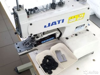 Пуговичная машина JK-T373 JACKПрактически новая машинка,  Была отшита одна партия костюмов 200шт,  Высокоскоростная пуговичная швейная машина цепного стежка предназначена в Новосибирске