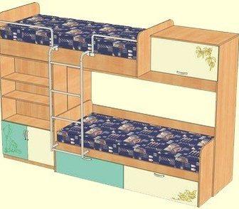 Изображение в Мебель и интерьер Мебель для детей Корпус: ЛДСП  Цвет: бук  Размер: Ш2760хВ1870хГ860 в Новосибирске 10000