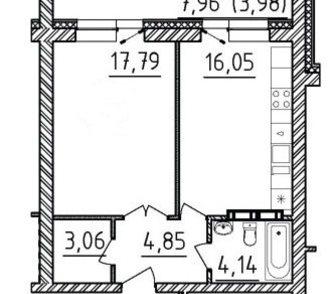 Изображение в   Квартира под чистовую отделку. Окна выходят в Новосибирске 1950000