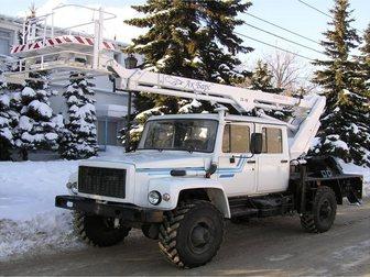 Смотреть изображение Спецтехника Автоподъёмник, автовышка TA-14 на базе шасси ГАЗ-33081 32676050 в Омске