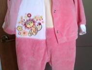 Продам велюровый костюм Продам велюровый костюм (ползунки и кофточка), новый, ра
