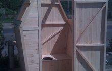 Дачный туалет 1х1х2м из дерева, Доставка по области