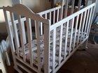 Кроватка детская с матрасиком в хорошем состоянии