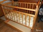 Скачать бесплатно foto Мебель для детей Кроватка-маятник 120х60 с ортопедическим матрасом 38561082 в Перми
