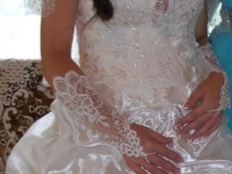 Уникальное изображение Свадебные платья продам шикарное платье ,цвета шампань 38647258 в Перми