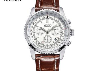 Скачать бесплатно фото Часы Часы Эффектные Мужские Megir Aviator Chronometer 40204061 в Перми
