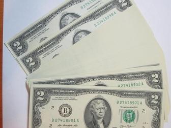 Свежее изображение Коллекционирование 2 доллара США 2013 г, На удачу 100 штук подряд 54888894 в Перми
