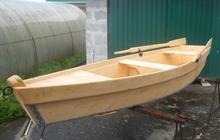 Лодка деревянная (новая)