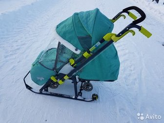 Санки в отличном состоянии,  Очень удобные, не высокая ручка, бампер для активных детей, 5ти точечные ремни безопастности и пленка от ветра, снега, СрочноСостояние: в Первоуральске