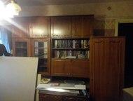Стенка мебельная Цвет шоколада, с антресолями, 2 шкафа с зеркалами, 1 книжный-се