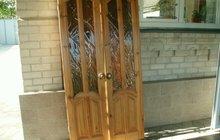 Дверь двойная сосна