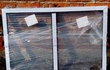 Окна алюминивые коричневые 2 шт