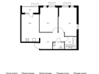 Продаётся 2-комн. квартира площадью 60,1 кв.м на 16 этаже 17