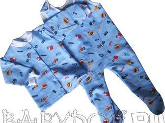 Смотреть foto  Ползунки тёплые и рубашка с машинками 32644162 в Ростове-на-Дону
