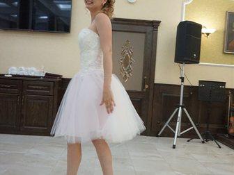 Скачать бесплатно фотографию Свадебные платья Свадебное платье короткое, с розовым оттенком 33181893 в Батайске