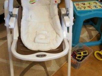 Уникальное фотографию  Новый стульчик для кормления Brevi Италия из экокожи 35092783 в Ростове-на-Дону