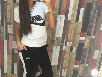 Уникальное изображение Женская одежда Спортивный костюм NK с капюшоном черный/салатовый 36780182 в Ростове-на-Дону