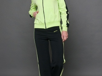Смотреть изображение Женская одежда Спортивный костюм хлопок салатный/черный 36780361 в Ростове-на-Дону