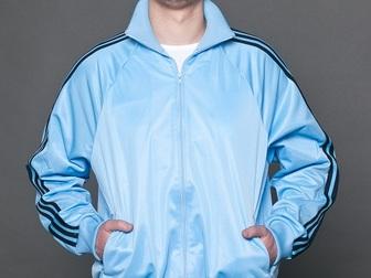 Свежее foto Женская одежда Спортивный костюм КС мужской белый с синим 36780403 в Ростове-на-Дону