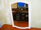 Новое фото  Зеркало настенное в белой фигурной рамке, 70093230 в Самаре
