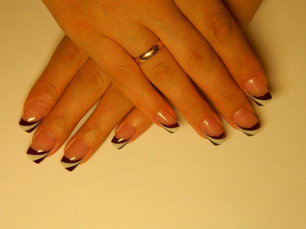 Ногти дизайн с цветными гелями