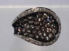 Свежее изображение  Роскошное кольцо с редкими серыми бриллиантами 38011803 в Санкт-Петербурге