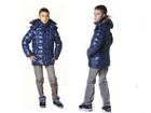 Просмотреть изображение Детская одежда Зимняя детская куртка на пуху «Аляска» синий 69299497 в Санкт-Петербурге