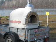 Прицеп для легкового автомобиля Прицеп, печь барбекю для приготовления еды.
