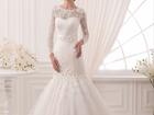Уникальное фото  Свадебное платье, Рыбка со шлейфом 37766862 в Саратове