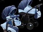 Коляска 3 в 1 Zippy New темно-синий/светло-голубой