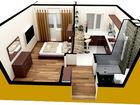 Полноценная однокомнатная квартира с двумя окнами и балконом