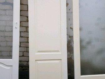 Двери б, у,  без коробок, ВСЕ РАЗМЕРЫ УКАЗАНЫ КОНКРЕТНО ПО ДВЕРНОМУ ПОЛОТНУ, Очередность указания размеров относительно основного - первого фото слева направо, Белая в Ставрополе