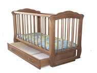 Продам детскую кроватку с маятником б/у + матрасик Кроватка изготовлена полность