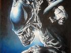 Увидеть фото Антиквариат, предметы искусства картина улыбка чужого 55х40 39570261 в Сыктывкаре