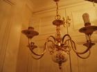 Скачать бесплатно foto Светильники, люстры, лампы Старинная ЛЮстра Франция латунь фарфор роспись на фарфоре на 5 свечей 38573234 в Тюмени